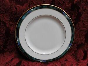 Lenox Kelly, Green, Black, Purple Band: Salad Plate (s) 8 1/4