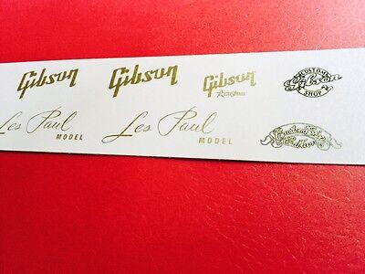 Gibson Les Paul Vintage Gold Metallic Waterslide Decal set w/Custom Shops