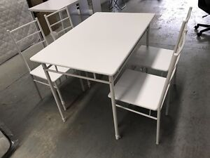 Dinning table with dinning chairs $145(desk110x70x76;chair40x48x86) St Kilda Port Phillip Preview