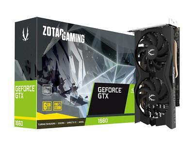 ZOTAC GeForce GTX 1660 Twin Fan 6GB GDDR5 192B Graphics Card GPU ZT-T16600K-10M