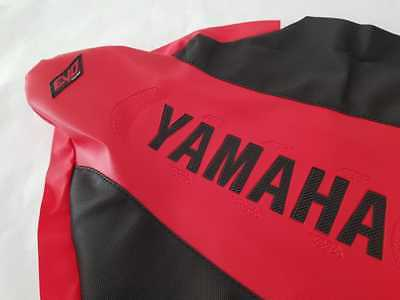 YAMAHA YFZ450 YFZ 450 BLACK RED SEAT COVER ULTRAGRIPP RUBBER SHIPPING WORLDWIDE