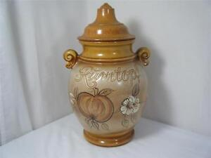 Scheurich-Keramik 826-36 W.Germany Creams Browns Rumtopf Large Jar Tureen 1960`s