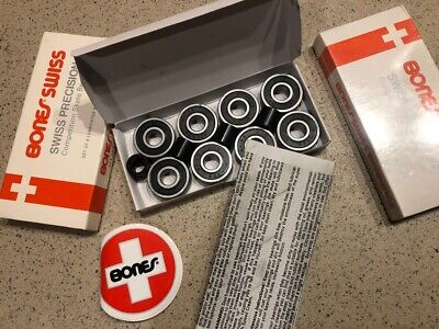 Bones bearings SWISS collection with four spacers skateboard Set of 8mm