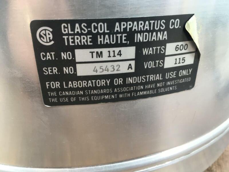 C48~ GLAS-COL TM114 Aluminum Heating Mantle 5000mL, 600 WATTS, 115 VOLTS
