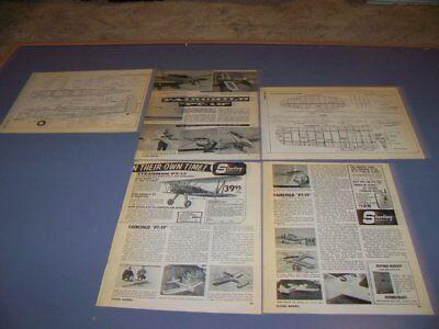 VINTAGE..FAIRCHILD PT-19..R-C PLANS/DETAILS..RARE! (423R) for sale  Shipping to Canada