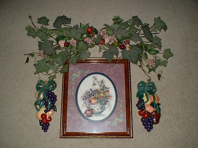 Retired 4-pc HOME INTERIORS Grouping - FRUITS OF LOVE on Rummage