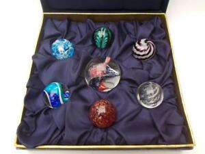 Teign Valley Presentation Box of Glass Marbles inc.Lg. Cyclops Marble Signed TVG