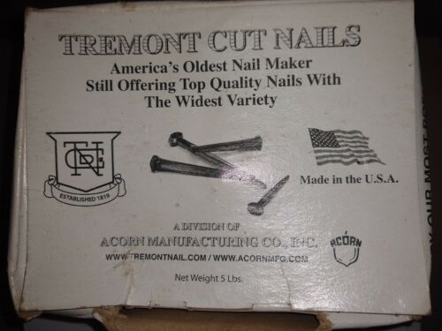 Tremont Decorative Wrought Head Nails Hot Dipped Galvanized 5 lb box NOS