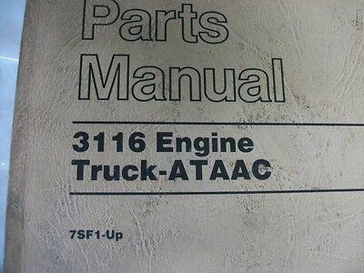 cat caterpillar 3116 truck engine parts manual sebp1879