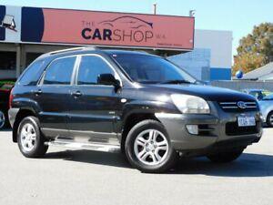 2007 Kia Sportage KM MY07 Black 4 Speed Sports Automatic Wagon