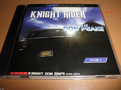 KNIGHT RIDER soundtrack CD best of DON PEAKE ost Halloween KNIGHT CON exclusive - Best Halloween Music Cd