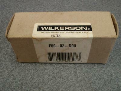 Wilkerson Air Line Filter F00-02-d00 New In Box