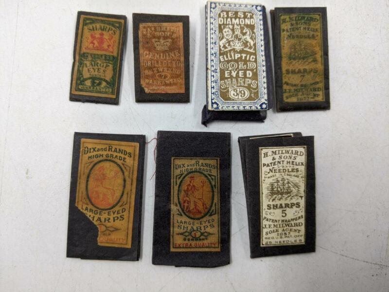Vintage LOT Sharps Sewing Needles – Dix & Rand Milward Peerless Smith
