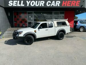 2009 Ford Ranger PK XL Cab Chassis Super Cab 4dr Man 5sp, 4x4 1308kg 3.0DT White Manual Cab Chassis