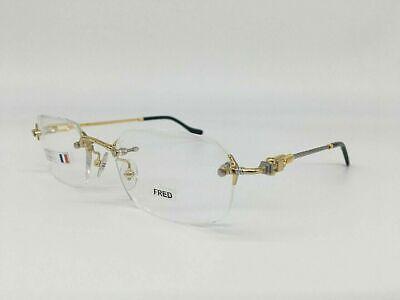 New Fred Lunettes Bermude Gold Silver Rope Frames 54mm Eyeglasses Rx (Silver Framed Glasses)