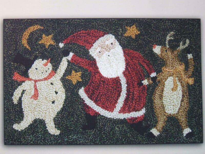 Christmas Dance PN176 Punchneedle Punch Needle Santa Teresa Kogut Pattern