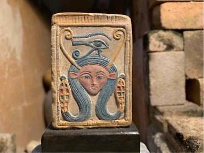 Egyptian Art Hathor & eye of Horus - Goddess of love & mothers, music & dance