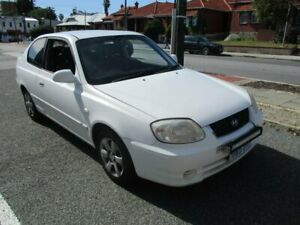 2003 Hyundai Accent LC GL White 5 Speed Manual Hatchback West Perth Perth City Area Preview