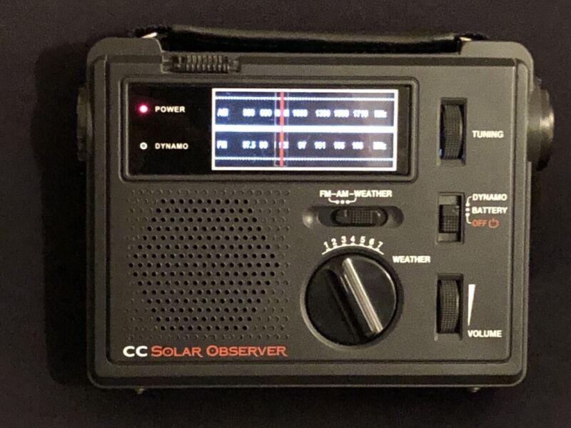 C. Crane CC Solar Observer Wind Up Solar Emergency Crank Radio with AM, FM, NOAA