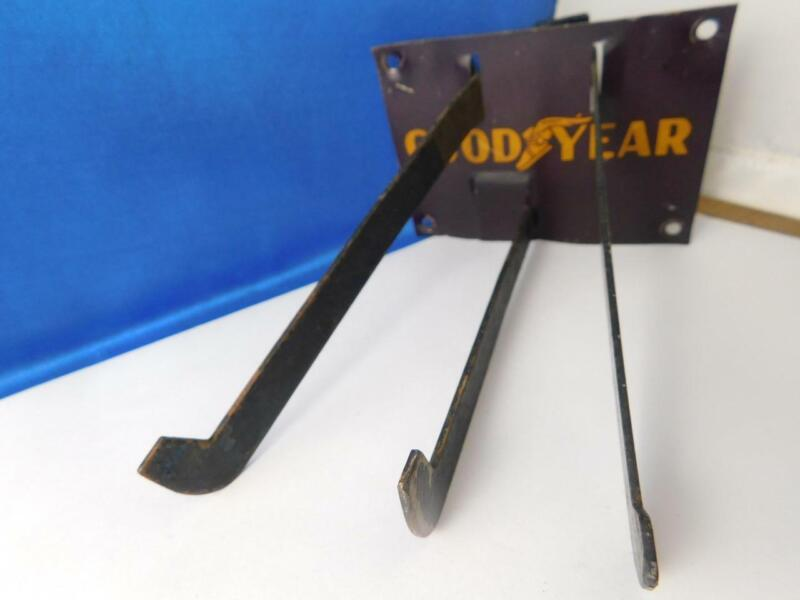GOOD YEAR TIRE RACK STAND DISPLAY METAL VINTAGE SIGN OIL GAS STATION ADVERTISING