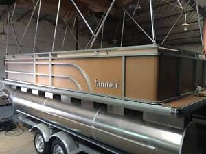 5.8m Pontoon Party BBQ Boat Brand New With Tandem Trailer Noosa Area Preview