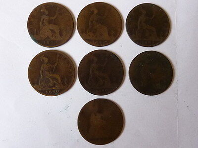 Collection of Victorian Pennies 1d