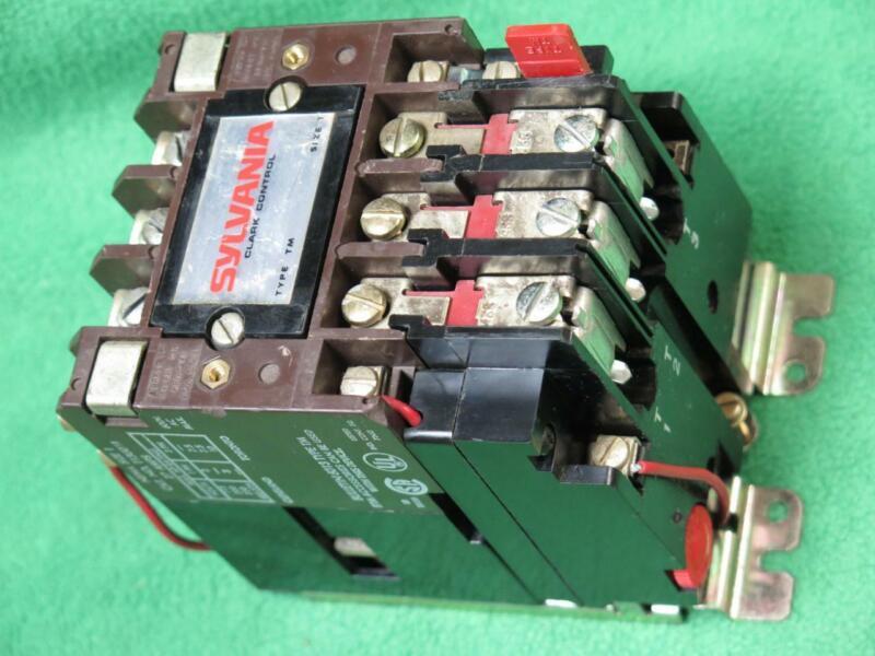 SYLVANIA T13U031 MOTOR STARTER CONTACTOR NEMA SIZE 1 27 AMP 3 POLE 240V COIL TM
