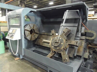 Mori Seiki Sl-8 Cnc Lathe Fanuc 21it 32 4 Jaw Chuck 10.25 Hole Video Avail