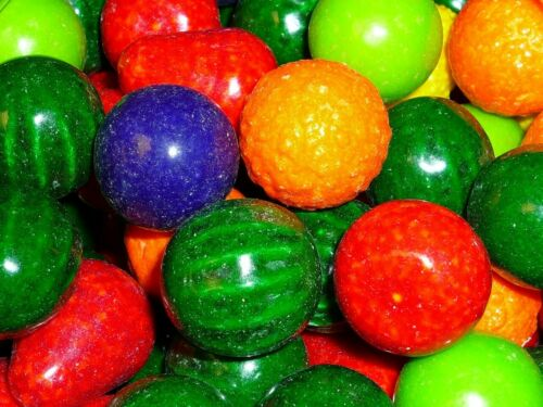 "SEEDLINGS 5 lbs DUBBLE BUBBLE 1"" CANDY FILLED GUMBALLS Bulk Vending Machines Gum"