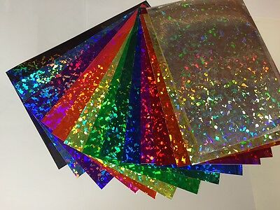 Holographic Crystal Sign Vinyl Sample Pack 12 Sheets 8 X 12 Inch Holocrystal