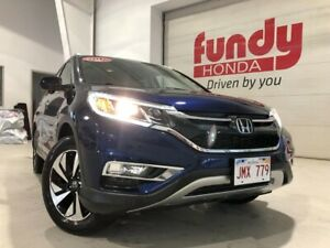 2016 Honda CR-V Touring w/leather, power seat, navi ONE LOCAL OW