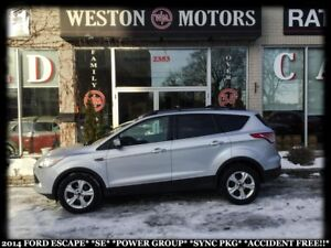2014 Ford Escape SE*POWER GROUP*SYNC PACKAGE*ACCIDENT FREE!!