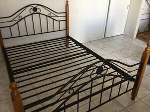 Queen size bed with free pillow top mattress good condition Brunswick Moreland Area Preview