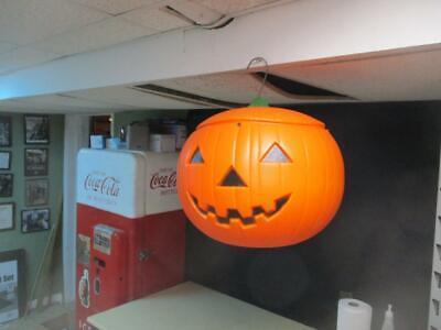 Vintage 1991 Union Products Halloween Pumpkin Jack O Lantern Blow Mold Blowmold