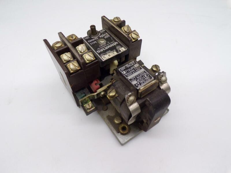 Used Sylvania Fast-Slow Timing Relay Folio-2  off 713upd on 713up E508