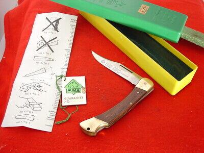 "Puma Made in Germany 5"" GAME WARDEN 1987 Lockback Lock Blade Knife MINT IN BOX"