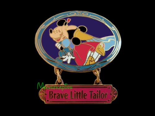 BRAVE LITTLE TAILOR Princess MINNIE Kissing MICKEY Disney Tokyo 2001 LE Pin