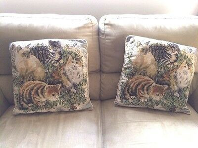 2 Piece Cat Couch Pillow Cover Set Wild Decor Kitty Cat Meow Kitten Pillow Cover