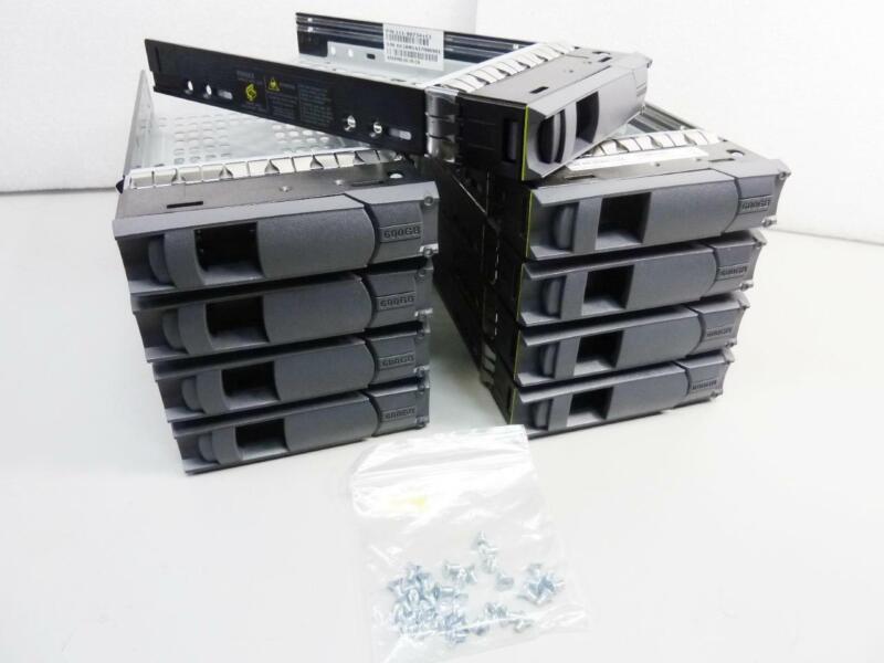 "9x NetApp 3.5"" Hard Disk Drive Bay / Caddy / Tray 111-00734+C1 / C0 - Lot of 9"