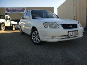 2003 Hyundai Accent LC GL White 5 Speed Manual Sedan Malaga Swan Area Preview