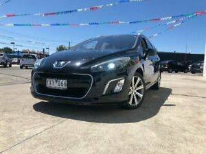 2012 Peugeot 308 T7 MY12 Active Touring Black 6 Speed Sports Automatic Wagon Maidstone Maribyrnong Area Preview