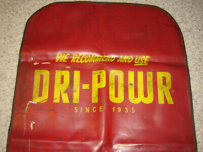 "Vintage Dri-Powr Fender Apron Cover USED 53"" X 28"" Gas, Oil, Man Cave"