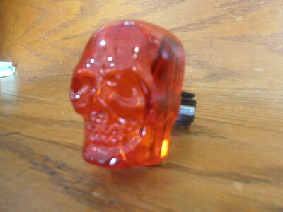 Red skull bike light with flashing eyes bicycle  halloween safety item walking (Halloween Eye Safety)