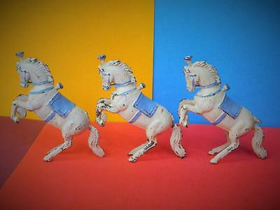CHARBENS RARE PRE-WAR VINTAGE LEAD MIMIC CIRCUS SERIES PERFORMING LIBERTY HORSES