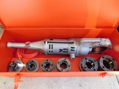Ridgid 700 Pipe Threader Machine W 6 Dieheads Plastic Coated Pipe 12 To 2