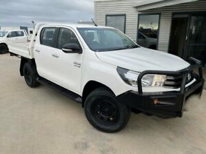 2016 Toyota Hilux GUN126R SR Double Cab Glacier White 6 Speed Sports Automatic Cab Chassis