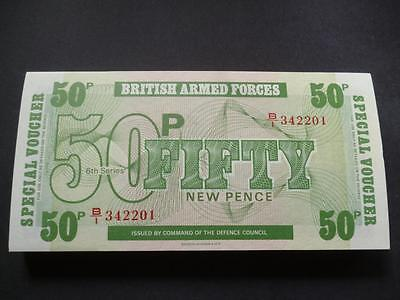 MINT UNUSED MILITARY/ARMED FORCES 50p BANKNOTE/VOUCHER UNCIRCULATED CONDITION