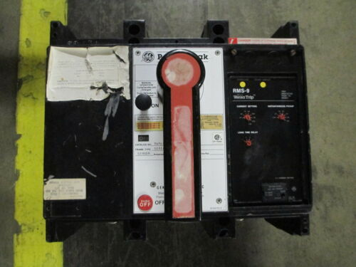 Ge Powerbreak Thp88ss 800a 3p 600v Mo/do Circuit Breaker W/ Li Used As Is