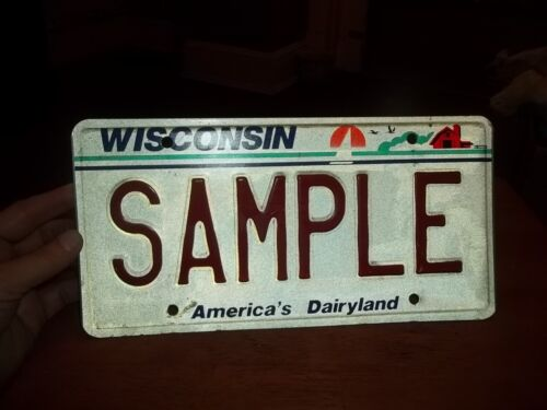 Wisconsin Sample license Plate automobile 1987