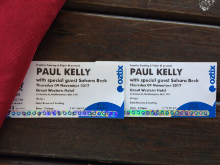 Paul Kelly Tickets